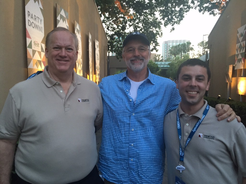 Trimtab owners Arthur Jackson and Travis Buffington with NetSuite CEO Zach Nelson